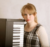 Teenage keyboard player Stock Images