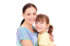 Teenage and little girl portrait Stock Photography