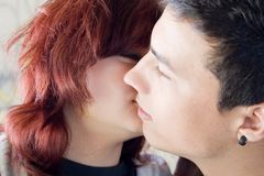 Teenage love Royalty Free Stock Images