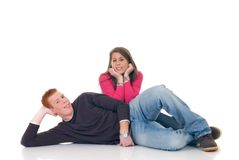 Teenage lovers Stock Image