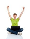 Teenage man student Stock Image