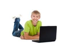 Teenage man student Royalty Free Stock Photos