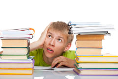 Teenage man student Royalty Free Stock Photo