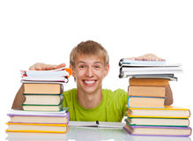 Teenage man student Royalty Free Stock Image