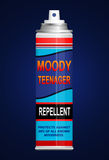 Teenage moodiness repellent. Stock Photos