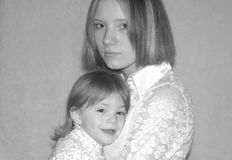 Teenage Mother / Sisters Royalty Free Stock Photography