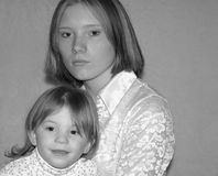 Teenage Mother / Sisters Royalty Free Stock Images