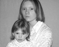 Teenage Mother / Sisters Stock Photo