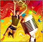 Teenage   music club abstract Royalty Free Stock Photo