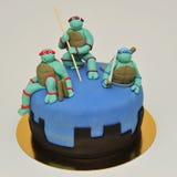Teenage Ninja Mutant Turtles cake Royalty Free Stock Photo