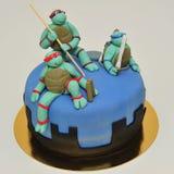Teenage Ninja Mutant Turtles fondant cake Stock Image