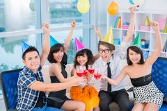 Teenage party Stock Photo