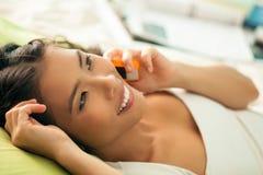 Teenage Phone Talk Stock Image