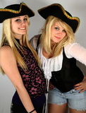 Teenage Pirates. Beautiful teenagers dressed up as pirates Royalty Free Stock Images