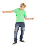 Teenage playing air guitar Stock Photography