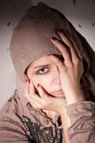 Teenage problems. Loneliness, violence, depression Stock Image