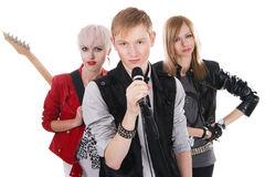 Teenage rock band Royalty Free Stock Photography