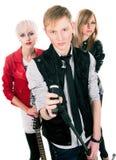 Teenage rock band Stock Image