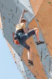 Teenage rock climber Royalty Free Stock Images