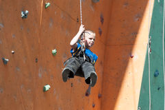 Teenage rock climber Stock Photography