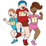 Teenage Runners. An image of teenage runners stock illustration