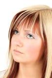 Teenage sad face portrait Stock Photos