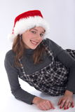 Teenage Santa Claus Stock Image