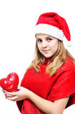 Teenage santa girl Royalty Free Stock Image