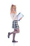Teenage schoolgirl Royalty Free Stock Photo