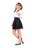 Teenage schoolgirl in formal clothes Stock Images