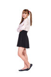 Teenage schoolgirl in formal clothes Royalty Free Stock Photos