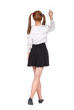 Teenage schoolgirl in formal clothes Royalty Free Stock Photography