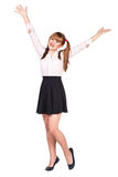 Teenage schoolgirl in formal clothes Royalty Free Stock Images