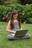 Teenage schoolgirl with notebook Stock Photography