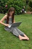 Teenage schoolgirl with notebook Stock Images