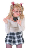 Teenage singer star Royalty Free Stock Image