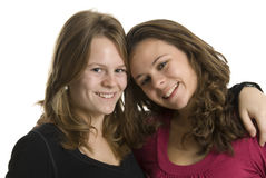 Teenage sisters Royalty Free Stock Photos