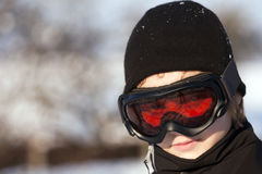 Teenage skier Royalty Free Stock Photos