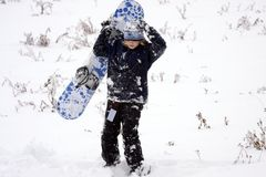 Teenage snowboarder Royalty Free Stock Photos