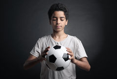 Teenage Soccer Player Royalty Free Stock Images
