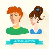 Teenage sport boy and girl team. Flat design. Vector Illustration of Teenage sport boy and girl team. Flat design Royalty Free Stock Photo