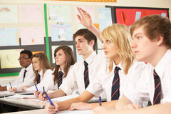 Teenage Student Answering Question Royalty Free Stock Photo