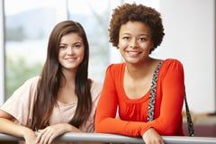 Teenage student girls indoors Royalty Free Stock Photos