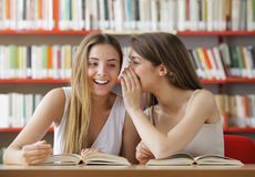 Teenage Student Gossip Stock Photo