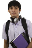 Teenage student holding books Royalty Free Stock Images