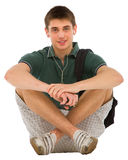 Teenage student sitting Stock Image