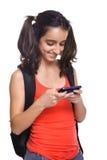 Teenage student texting Stock Photo