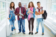 Teenage students in casualwear Royalty Free Stock Photo