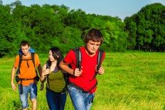 Teenage students enjoying summer Stock Photo