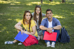 Teenage students. A group of smiling teenage students Royalty Free Stock Image